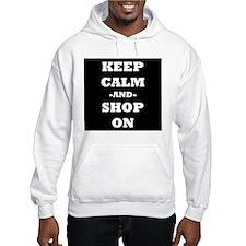 Keep Calm And Shop On (Black) Hoodie