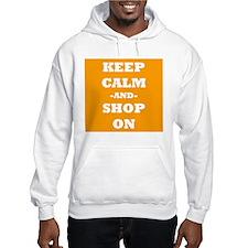 Keep Calm And Shop On (Orange) Hoodie