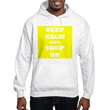 Keep Calm And Shop On (Yellow) Hoodie