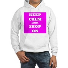 Keep Calm And Shop On (Pink) Hoodie