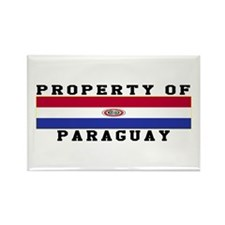 Property Of Paraguay Rectangle Magnet