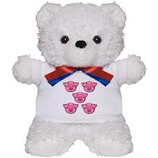 Cute Pink Pigs Teddy Bear