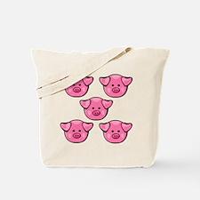 Cute Pink Pigs Tote Bag