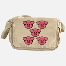 Cute Pink Pigs Messenger Bag