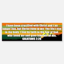 Galatians 2:20 Bumper Bumper Bumper Sticker