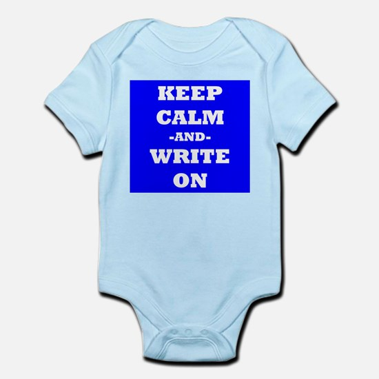 Keep Calm And Write On (Blue) Body Suit