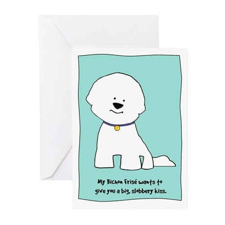 My Bichon Wants to Kiss Greeting Cards (10)