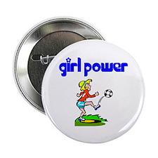 Girl Power Soccer Button