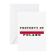 Property Of Poland Greeting Cards (Pk of 10)