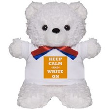 Keep Calm And Write On (Orange) Teddy Bear