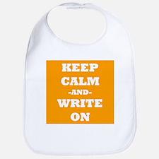 Keep Calm And Write On (Orange) Bib