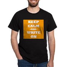 Keep Calm And Write On (Orange) T-Shirt