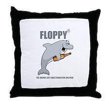 Floppy® the drunk anti-masturbation dolphin Throw