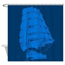 Sailing Clipper Ship Shower Curtain