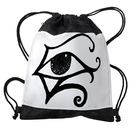 2-egyptinaeyewhite.JPG Drawstring Bag