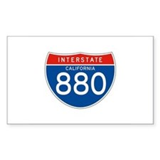 Interstate 880 - CA Rectangle Decal