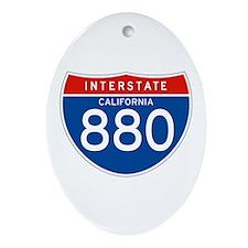 Interstate 880 - CA Oval Ornament