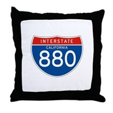 Interstate 880 - CA Throw Pillow