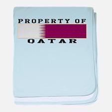 Property Of Qatar baby blanket