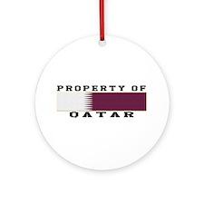 Property Of Qatar Ornament (Round)
