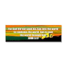 John 3:17 Car Magnet 10 x 3