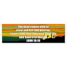 John 10:10 Bumper Bumper Sticker