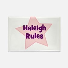 Haleigh Rules Rectangle Magnet