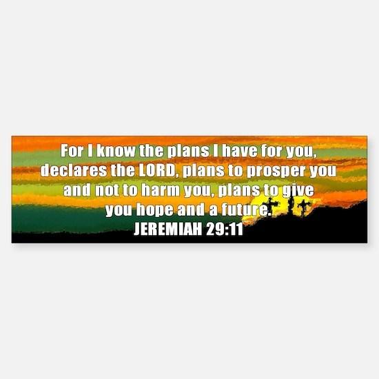 Jeremiah 29:11 Bumper Bumper Bumper Sticker