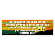 Jeremiah 29:11 Bumper Bumper Sticker