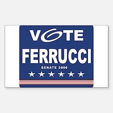 Vote Ralph Ferrucci Rectangle Decal