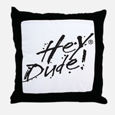 Hey Dude Logo Throw Pillow