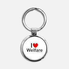 Welfare Round Keychain