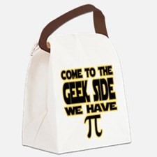 Come to the geek side we have pi Canvas Lunch Bag