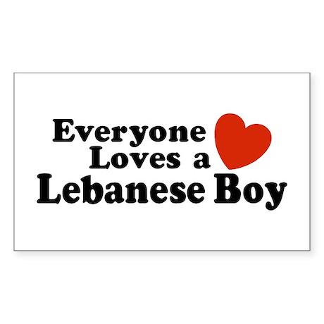 Everyone Loves a Lebanese Boy Sticker (Rectangular