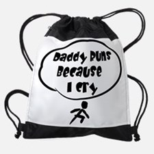 Daddy Runs Drawstring Bag