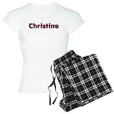 Christine Red Caps Pajamas