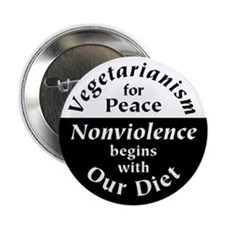 Vegetarianism for Peace Button