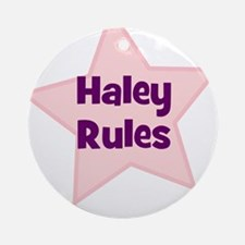 Haley Rules Ornament (Round)