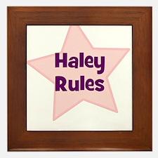 Haley Rules Framed Tile