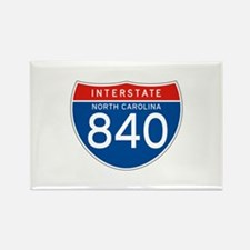 Interstate 840 - NC Rectangle Magnet