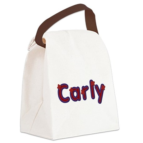 Carly Red Caps Canvas Lunch Bag