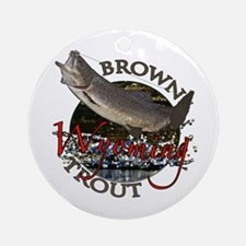 Wyoming Brown Trout Ornament (Round)