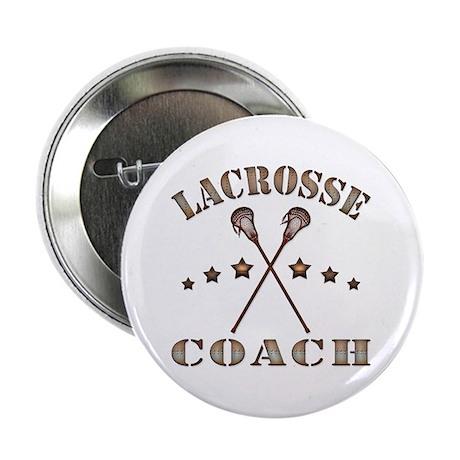 """Lacrosse Coach Steampunk Style 2.25"""" Button (10 pa"""