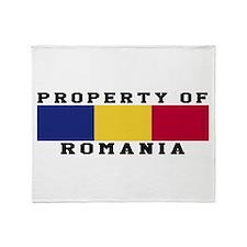 Property Of Romania Throw Blanket