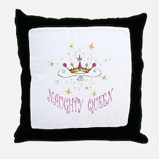 NAUGHTY QUEEN Throw Pillow