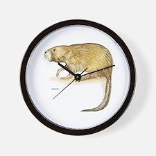 Muskrat Animal Wall Clock
