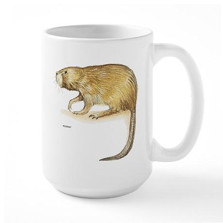Muskrat Animal Large Mug