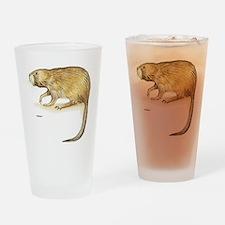Muskrat Animal Drinking Glass