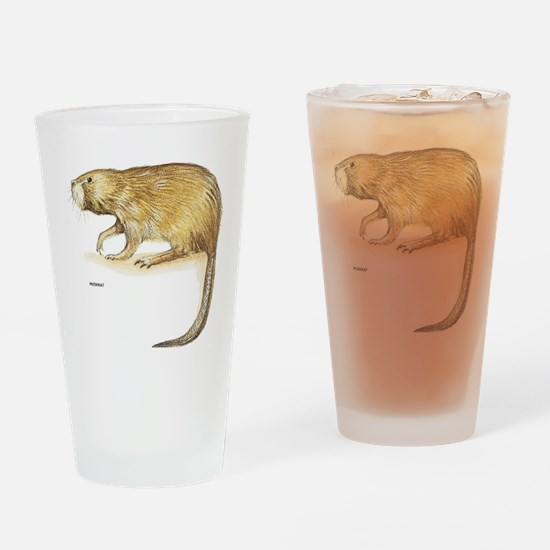 Muskrat Animal Drinking Glass
