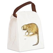 Muskrat Animal Canvas Lunch Bag